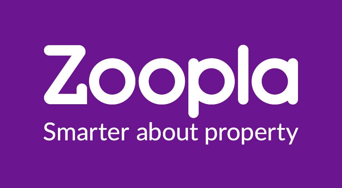 Zoopla logo - white on purple