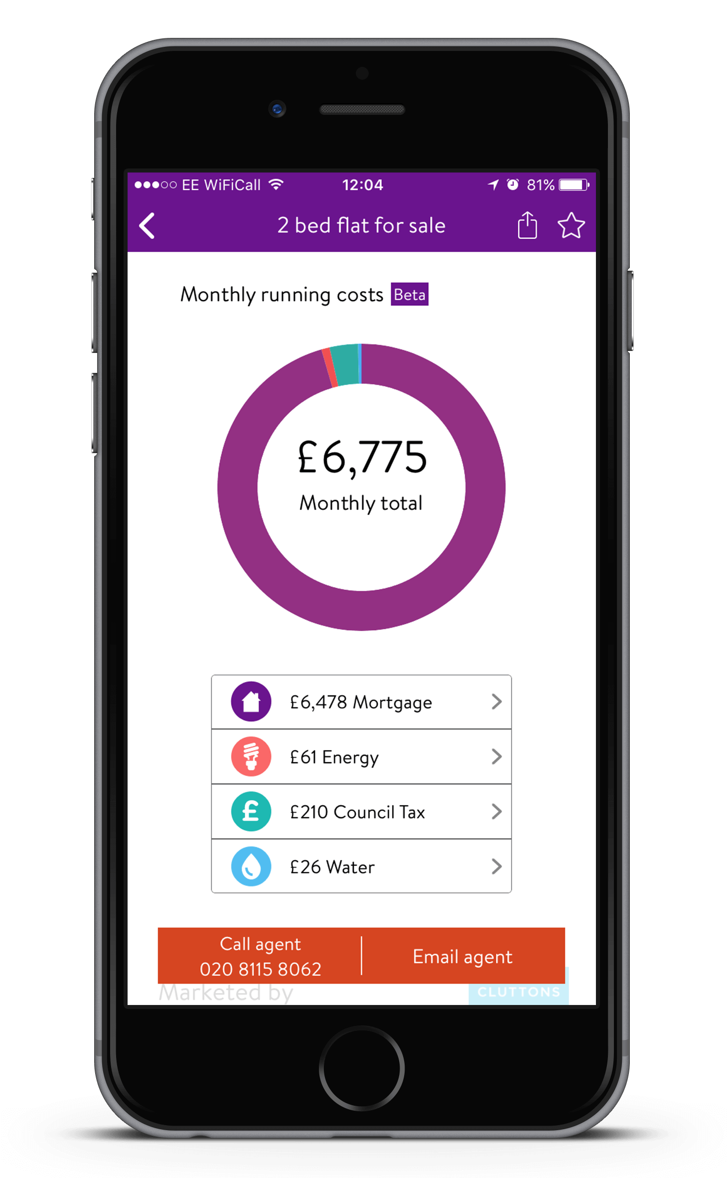 Zoopla iPhone App - Running costs