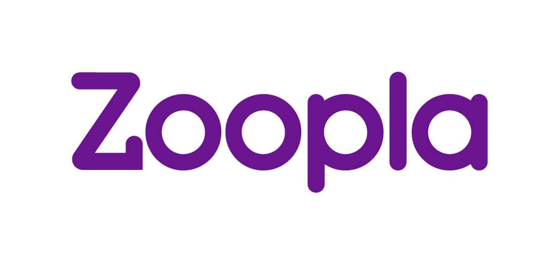 Zoopla logo - purple on white